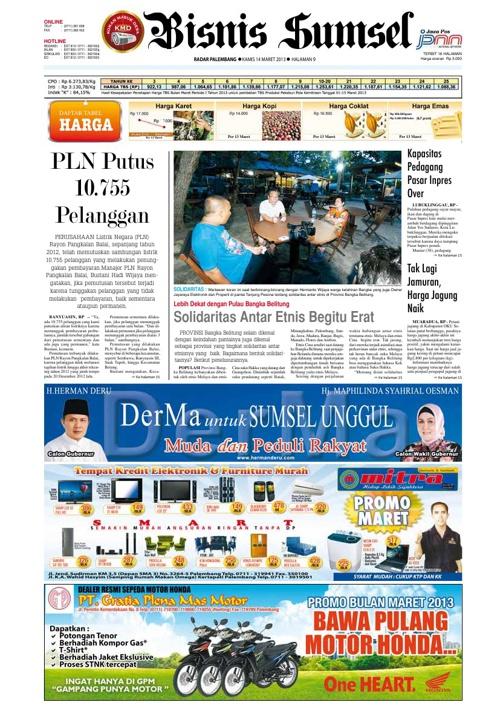 Radar Palembang Edisi 14-03-2013 Koran 2