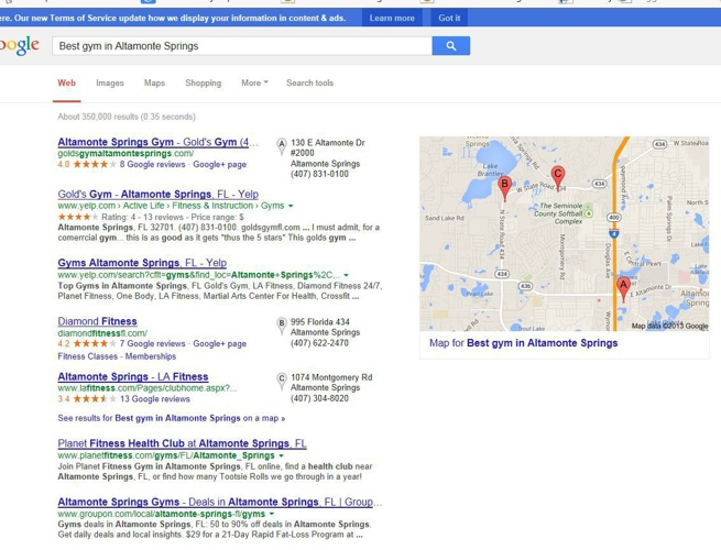 PAGE 1 Google Ranks