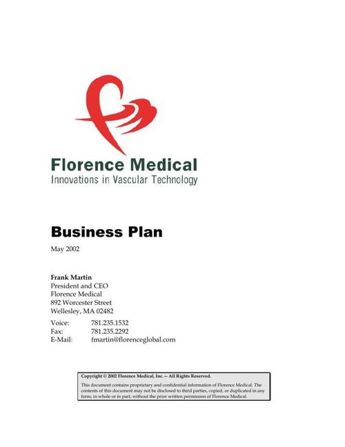 Florence Business Plan