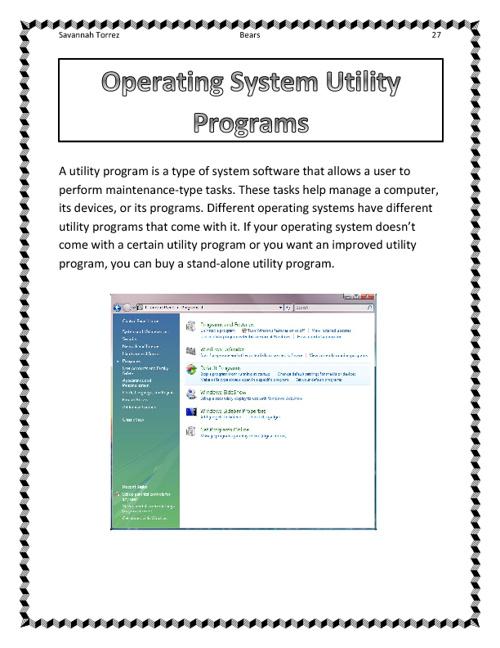 Bears Utility Programs Flipbook