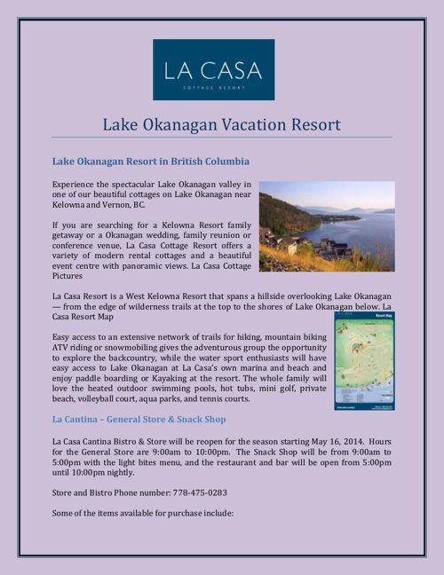 Lake Okanagan Vacation Resort
