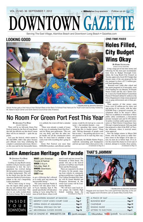 Downtown Gazette  |  September 7, 2012