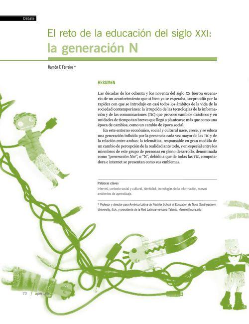 Generacion N Reto en la educacion del siglo XXI