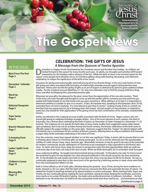Gospel News December 2015