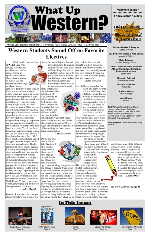 What Up Western? - Volume 5, Issue 4