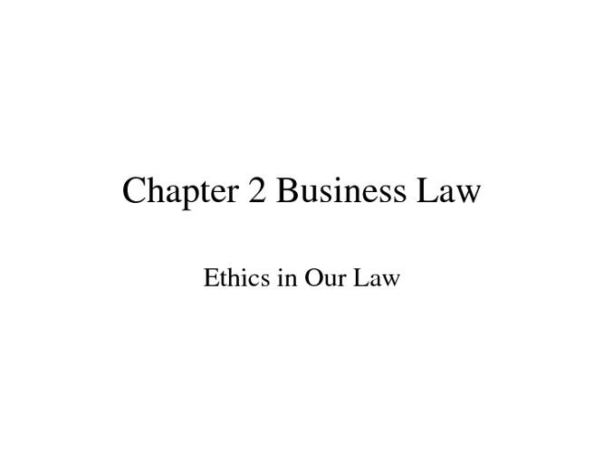 Chapt 2 Law