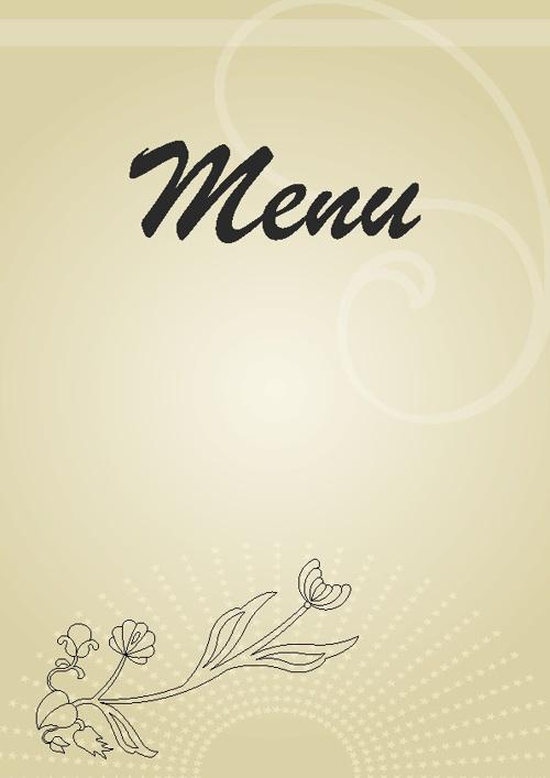 Menu Restauracja SWORNEGACE