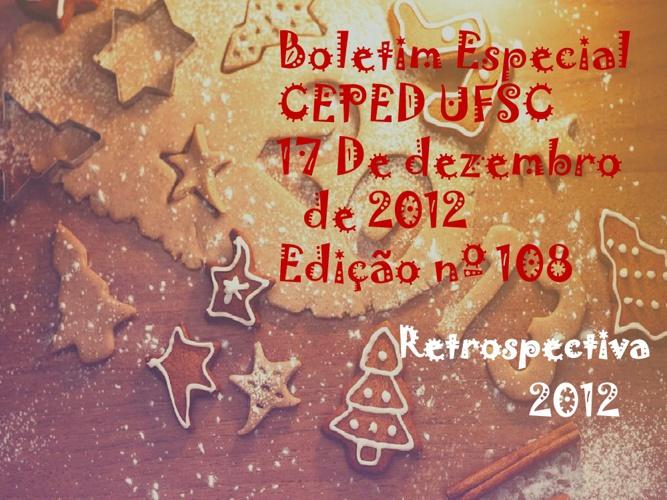 Boletim CEPED UFSC Edição nº 108