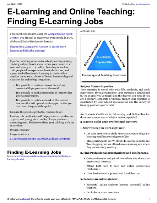 Finding E-Learning Jobs