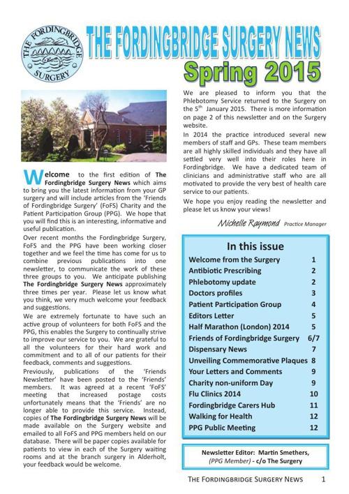 Fordingbridge Surgery Newsletter February 2015