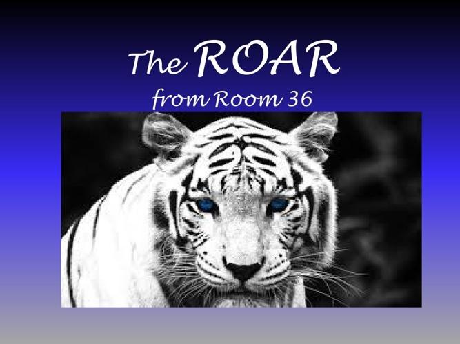 The ROAR from Room 36:  A.M. Boys Rock!
