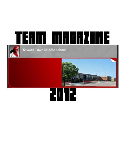Magazine - Team 8-2, 2012