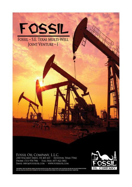 Fossil – S.E. Texas Multi-Well Joint Venture – I
