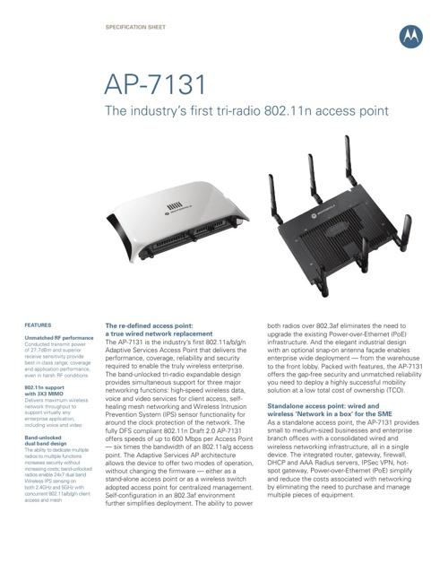 Motorola AP7131 Wireless Access Point