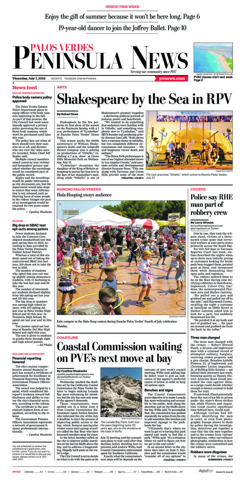 Peninsula News | July 7, 2016