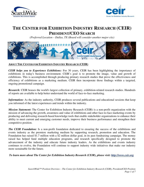 CEIR Position Overview