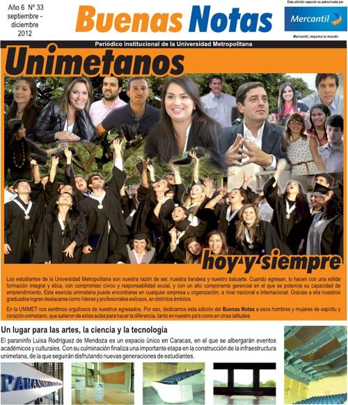 Buenas Notas Aniversario 2012