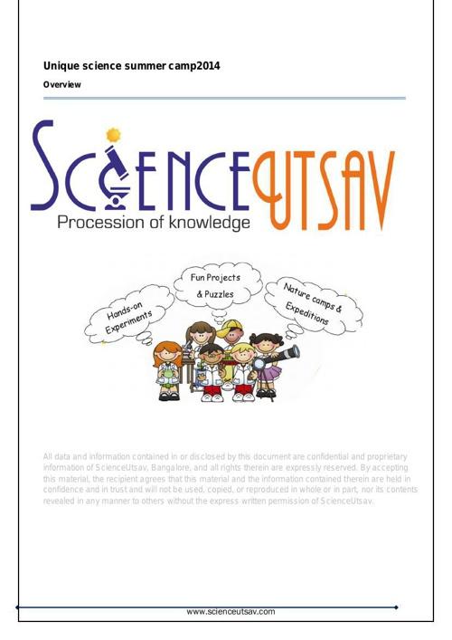 ScienceUtsav Science Camp 2014