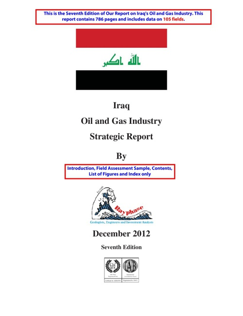 Iraq Strategic Report January 2012