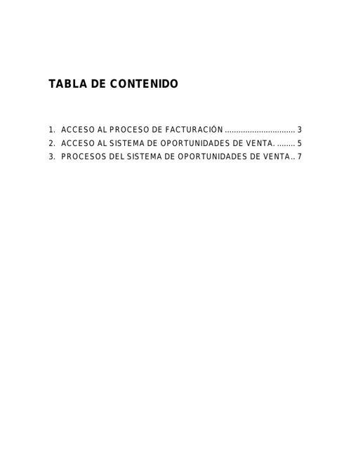 MANUAL DEL SISTEMA DE FACTURACION-OPORTUNIDADES DE VENTAS