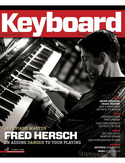 Infected Mushroom Keyboard Magazine November 2012 Issue
