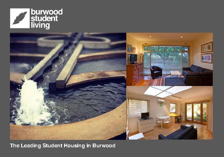 Burwood Student Living Brochure