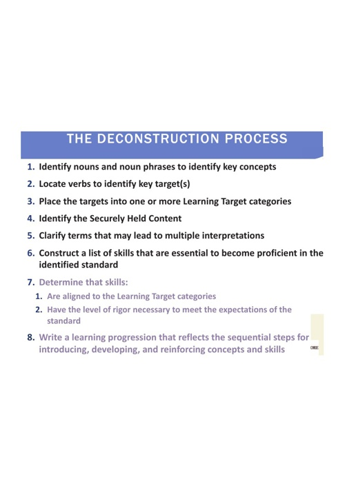 The Deconstruction Procedure