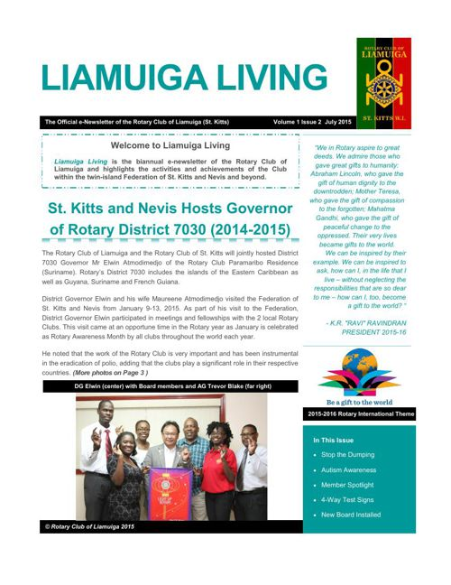 RCL Newsletter Vol 1 Iss 2 July 2015