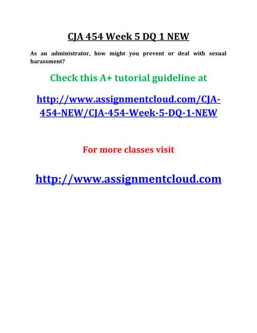 CJA 454 Week 5 DQ 1 NEW