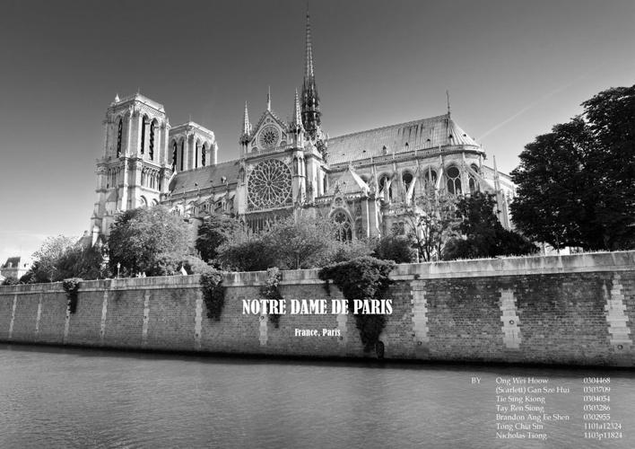 NOTRE DAME DE PARIS BOOKLET