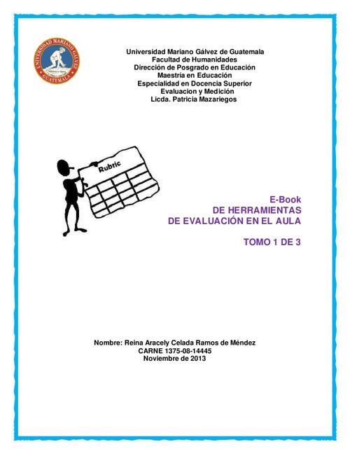 HERRAMIENTAS DE EVALUACION EN EL AULA ARACELY DE MENDEZ