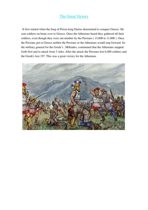 Battles In the Persian Wars