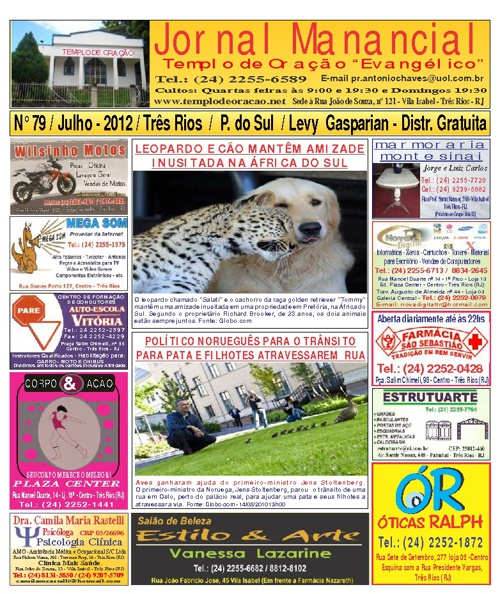 Jornal Manancial de Julho de 2011