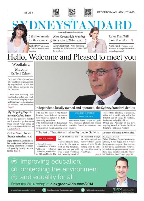 SydneyStandard December 2014 Edition - Sydney Standard
