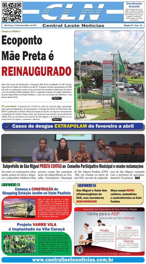 ED067_067 JORNAL CLN - CENTRAL LESTE NOTICIAS