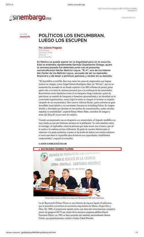 Raymundo Gomez Flores Politico Priista Amenaza con Inmundizar Za