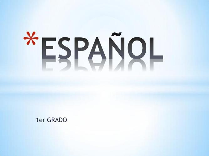 PANORAMA DE LA MATERIA ESPAÑOL