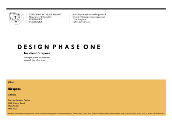 Design Phase One for Client