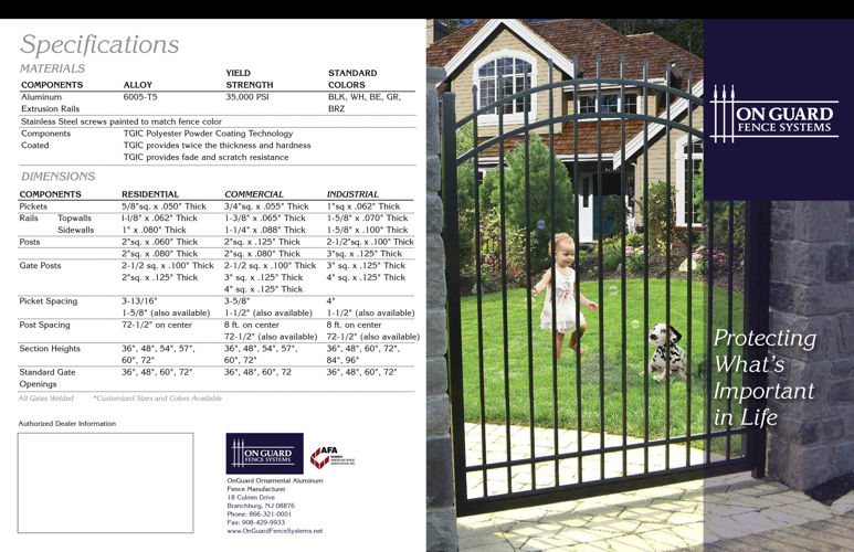 Clinton Fence Presents OnGuard Brochure
