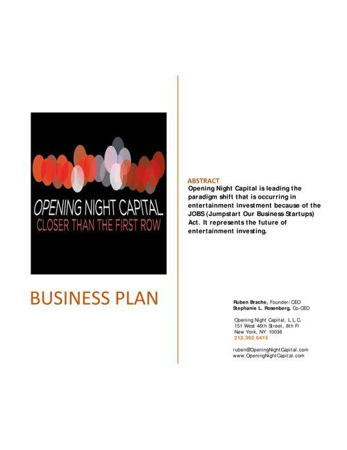 Executive Summary -- Opening Night Capital LLC 12192016