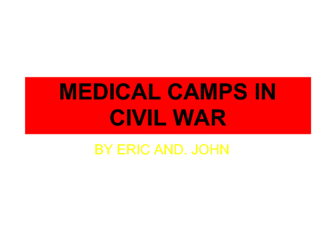 SAM AND THE MEDICAL CAMP