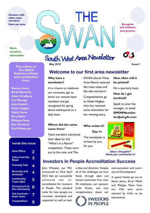 The SWAN - South West Area Newsletter