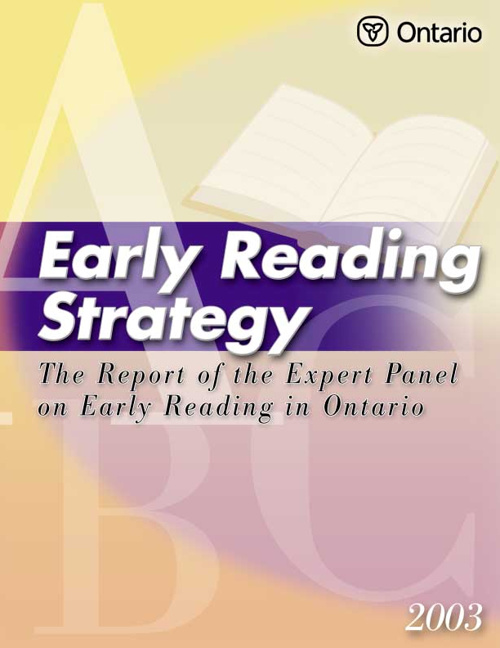 Expert Panel Report in Reading K-3