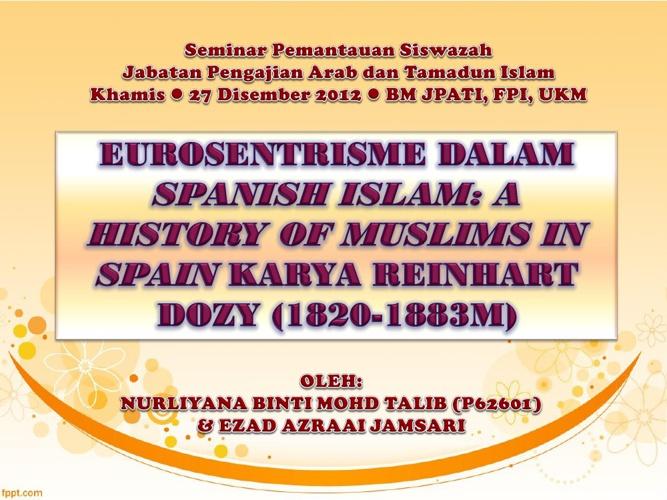 Spanish Islam oleh Reinhart Dozy