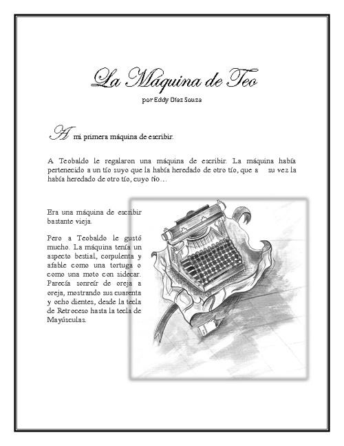 La máquina de Teo _ Eddy Díaz Souza