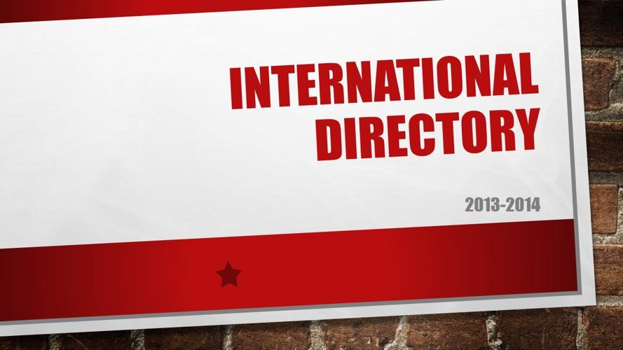 The JohnCarroll School International Students Directory