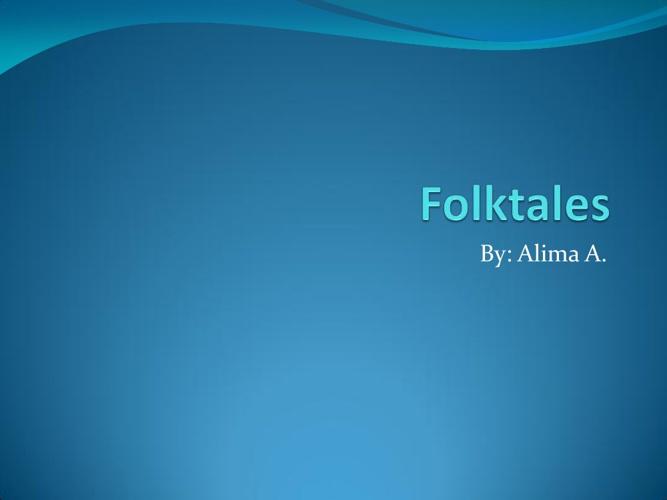 Folktales by Alima