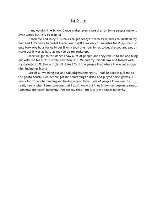 Middle School diaries: Writing Portfolio Madison Jaronitzky