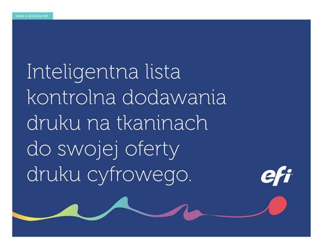 Druku na tkaninach: Inteligentna lista kontrolna - PL