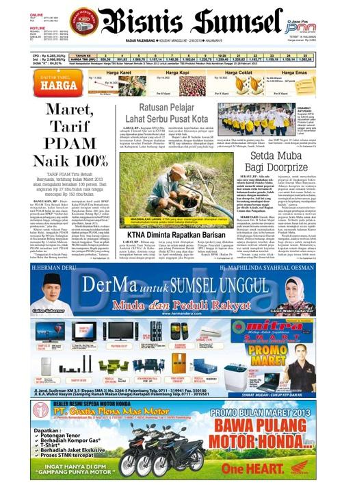 Radar Palembang Edisi 09-03-2013 Koran 2